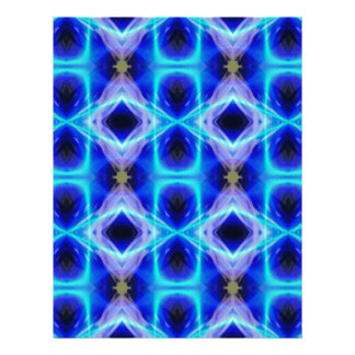 Neon Electrical Blue Abstract Pattern Letterhead