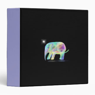 Neon Elephant Binder