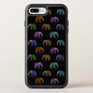 Neon Elephant Pattern OtterBox Symmetry iPhone 7 Plus Case