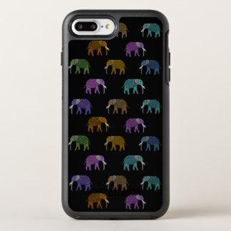 Neon Elephant Pattern OtterBox Symmetry iPhone 8 Plus/7 Plus Case