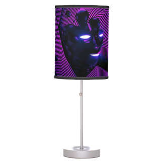 Neon Face Table Lamp