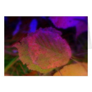 Neon Fall Card