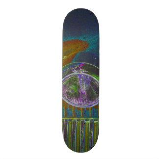 Neon Firetruck Design Skateboard Decks