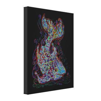 Neon Fish Canvas Print