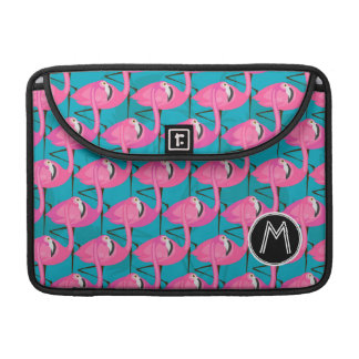 Neon Flamingos | Add Your Initial Sleeve For MacBooks