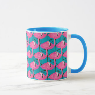 Neon Flamingos Mug