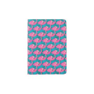 Neon Flamingos Passport Holder