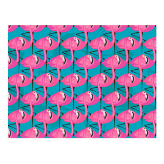 Neon Flamingos Postcard