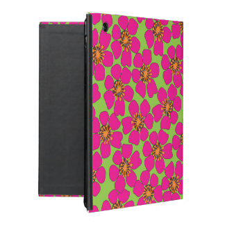 neon floral Ipad Air case