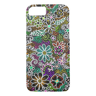 neon floral iPhone case