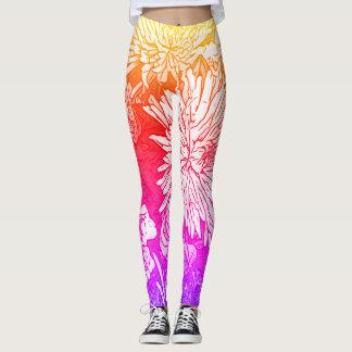 Neon floral leggings