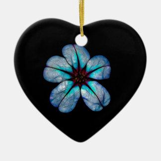 Neon Flower 1 Ceramic Ornament