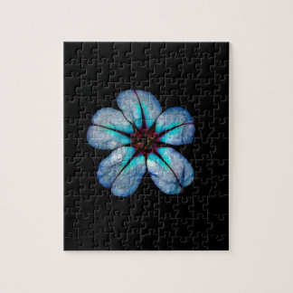 Neon Flower 1 Jigsaw Puzzle