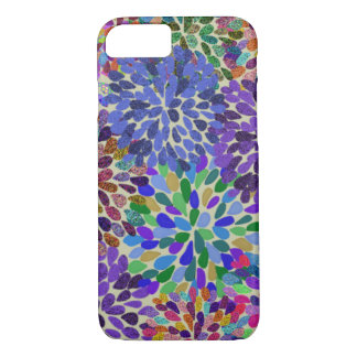 Neon Flowers iPhone case