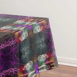 neon flowers tablecloth
