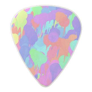 Neon Fluorescent Pastel Paint Splatter Pattern Acetal Guitar Pick