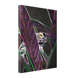 Neon Froggy Fine Art Canvas Print