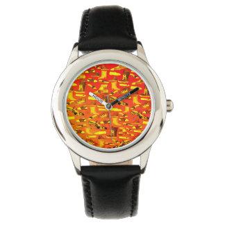 Neon Funny Fashion Lover Shoe Pattern Stylish Cool Watch