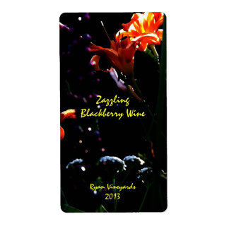 Neon Garden Wine Labels