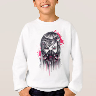 Neon Gas Mask Girl Sweatshirt