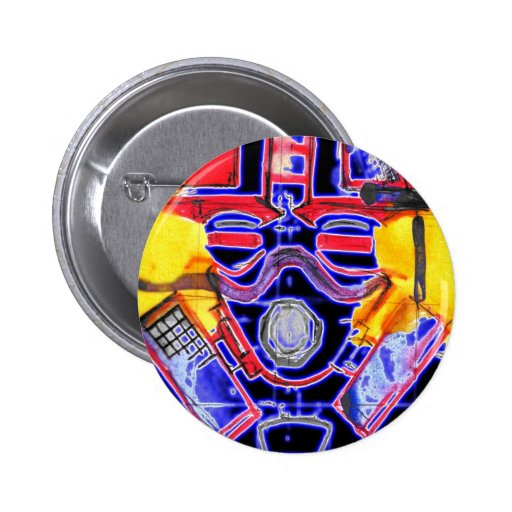 neon Gas Masked Soldier v2 Buttons