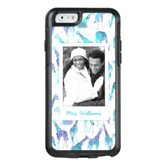 Neon Giraffes | Add Your Photo & Name OtterBox iPhone 6/6s Case