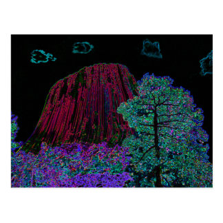 Neon Glow Devils Tower Postcard