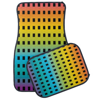 Neon glow in the dark colorful fluorescent 2 car mat