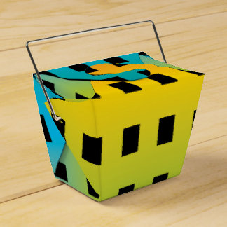 Neon glow in the dark colorful fluorescent 2 favor box