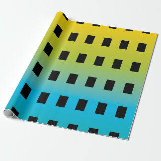 Neon glow in the dark colorful fluorescent 2 wrapping paper