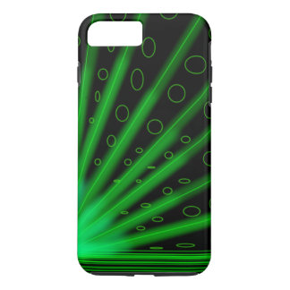 neon glowing green retro lazers iPhone 7 plus case