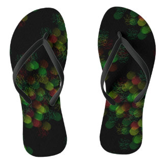 Neon glowing lights in sultry colors flip flops