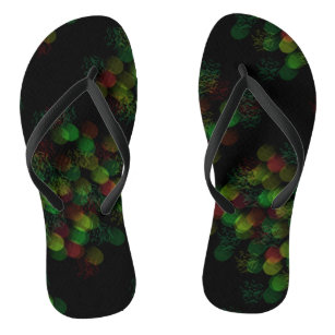 Neon glowing lights in sultry colours flip flops
