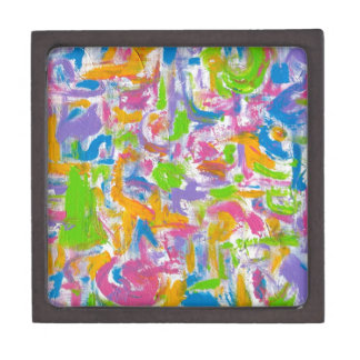 Neon Graffiti-Abstract Art Brushstrokes Premium Gift Box