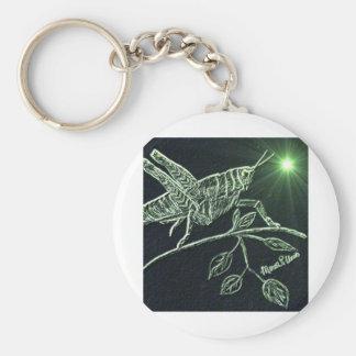 Neon Grasshopper Keychain