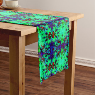 Neon Green Abstract Short Table Runner
