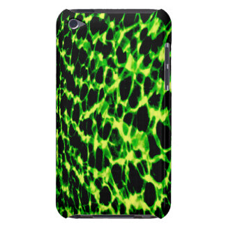 Neon Green Abstract Sound Waves iPod Touch 4G Case