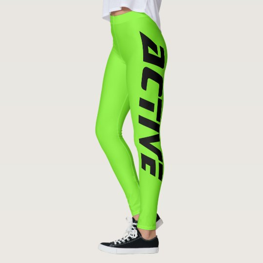 Neon Green Active Sport Leggings