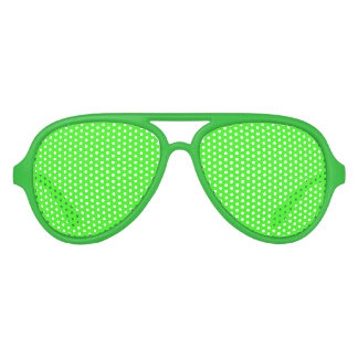 Neon Green Adult Aviator Party Shades