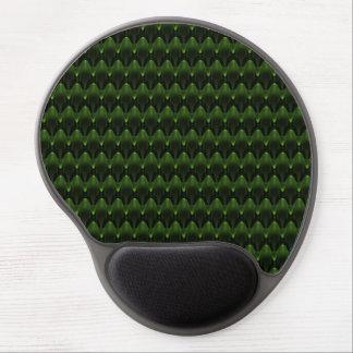 Neon Green Alien Head Design Gel Mouse Pad