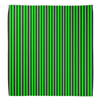 Neon Green And Black Stripes Bandana