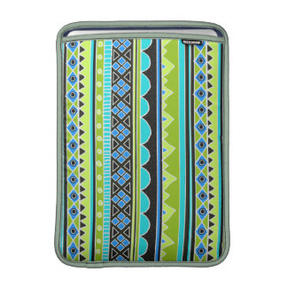 Neon Green and blue tribal pattern Sleeves For MacBook Air