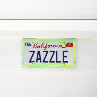 Neon Green and Yellow License Plate Frame