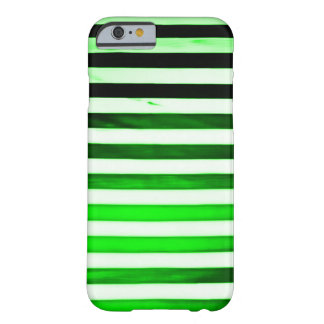 Neon Green Art Nouveau Grunge Stripes Barely There iPhone 6 Case