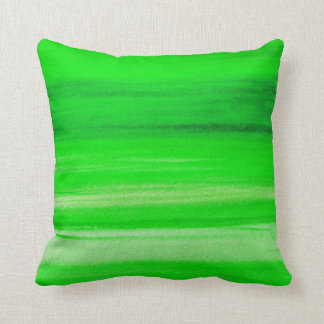 Neon Green Backdrop Watercolor Abstract Background Throw Pillow