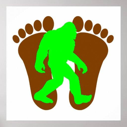 Neon Green Bigfoot Posters