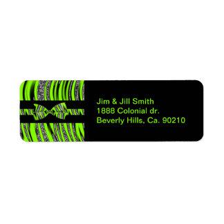 Neon Green & Black Zebra Glitter Stripes