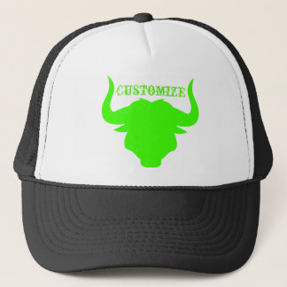 Neon Green Bull Trucker Hat