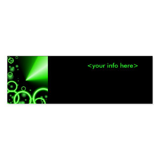Neon Green Business Card