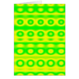 Neon Green Circle Abstract Card